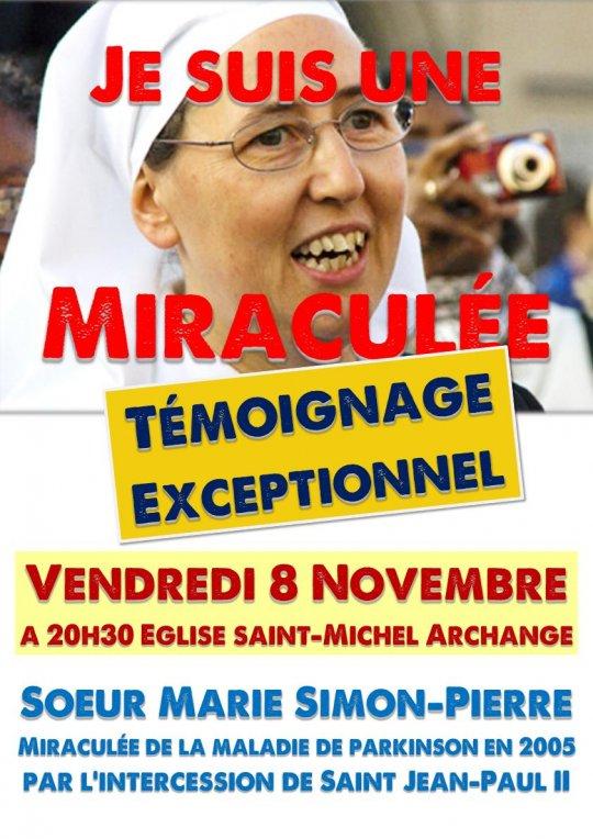 «Je suis une miraculée…» – Témoignage de Soeur Marie Simon-Pierre le 8 novembre 2019 à Marseille (13)