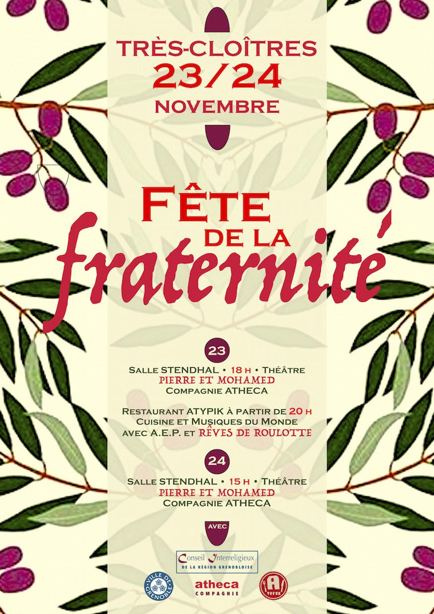 Fête de la fraternité à Grenoble (38) les 23 & 24 novembre 2019