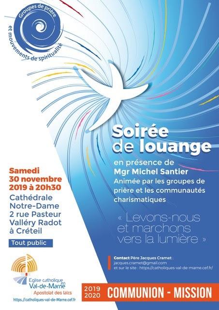 Soirée de louange le 30 novembre 2019 à Créteil (94)