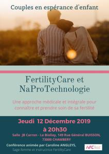 """Conférence """"Fertility Care et NaPro Technologie"""" le 12 décembre 2019 à Chambéry (73)"""