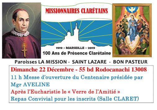 Centenaire de la présence clarétaine le 22 décembre 2019 à Marseille (13)