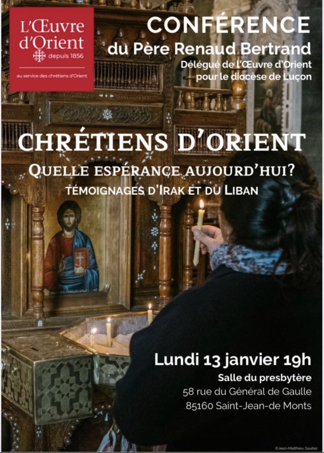 Saint-Jean-de-Monts: conférence sur les Chrétiens d'Orient