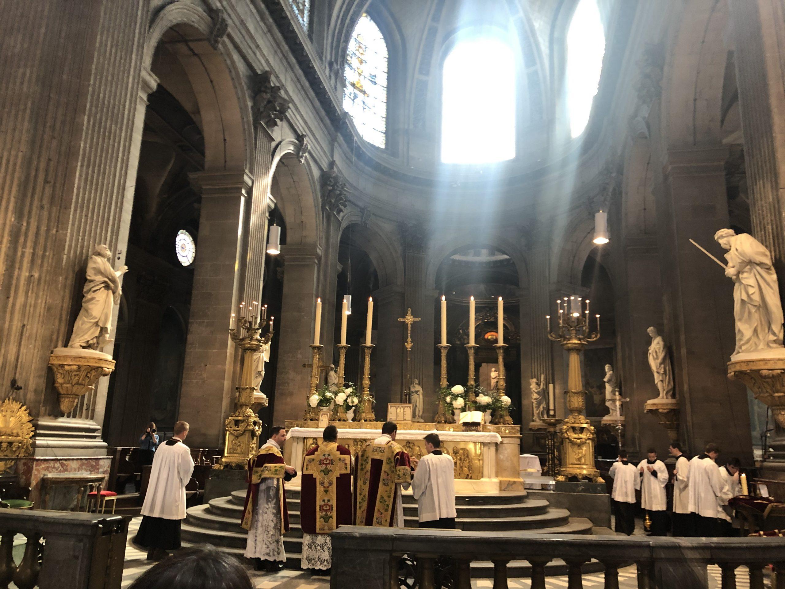 Pèlerinage de Pentecôte: messe d'envoi à Saint-Sulpice