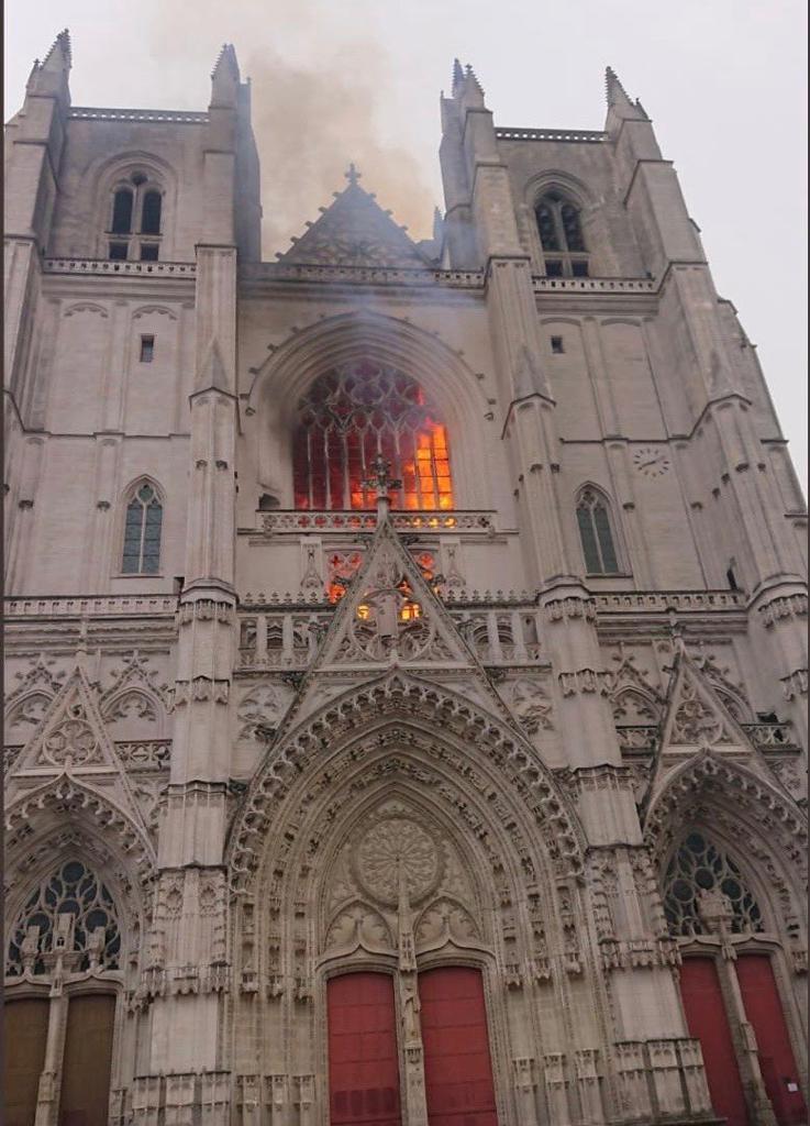 Nantes: incendie de la cathédrale Saint-Pierre-et-Saint-Paul
