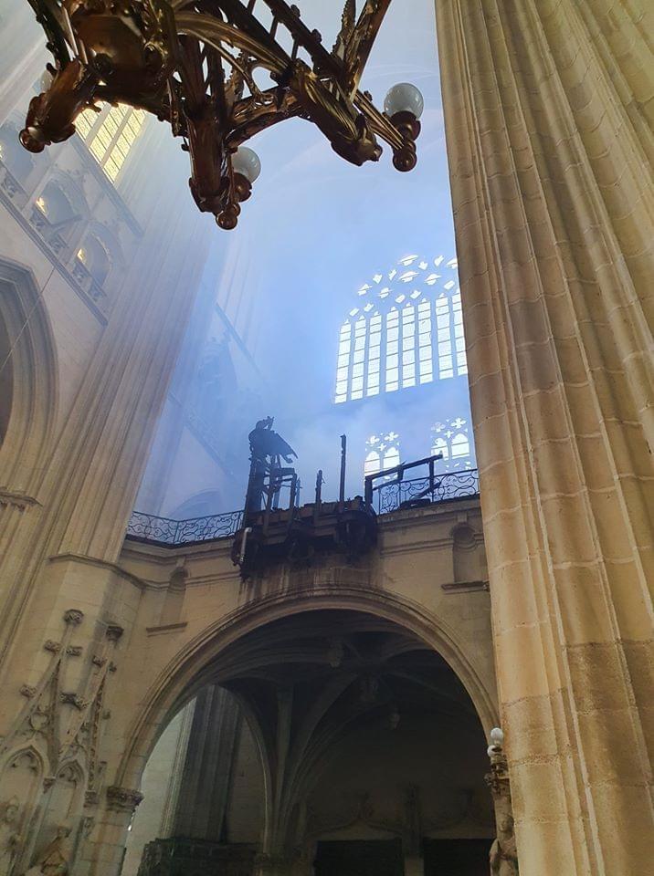Incendie de la cathédrale de Nantes: le grand orgue détruit