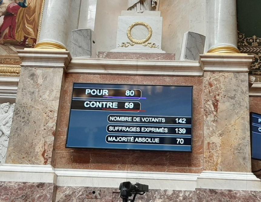 Adoption d'une proposition de loi qui prévoit l'allongement du délai de recours à l'avortement et la suppression de la clause de conscience