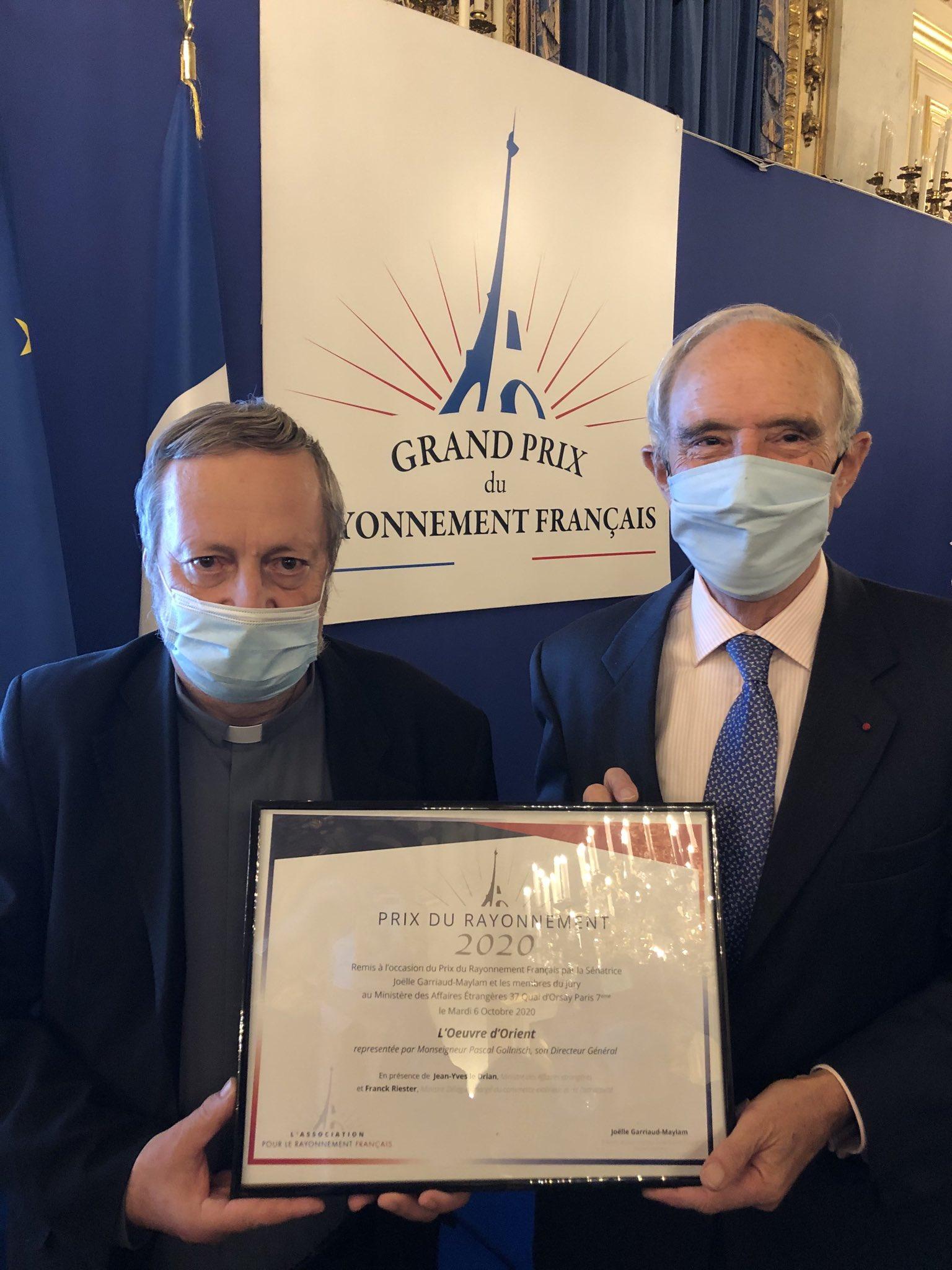 Remise du Prix du Rayonnement Français à l'Oeuvre d'Orient