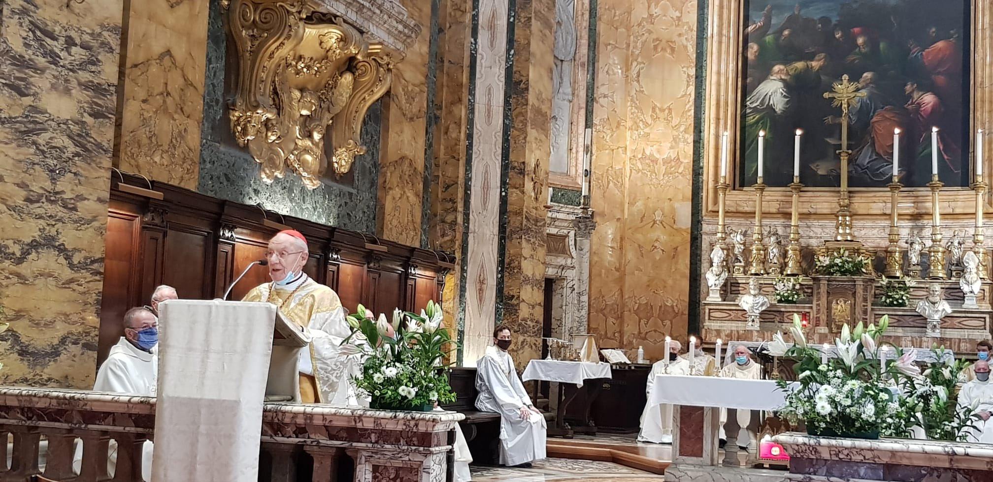 Rome: célébration d'une messe à Saint-Louis des Français
