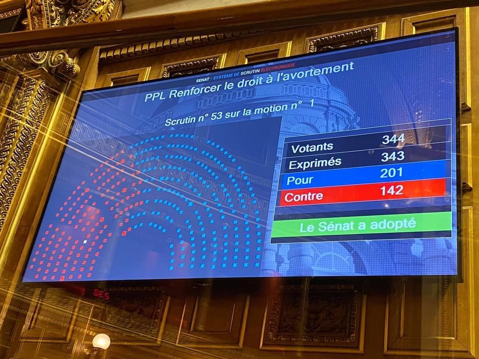 Rejet de la proposition de loi élargissant le délai de recours à l'avortement