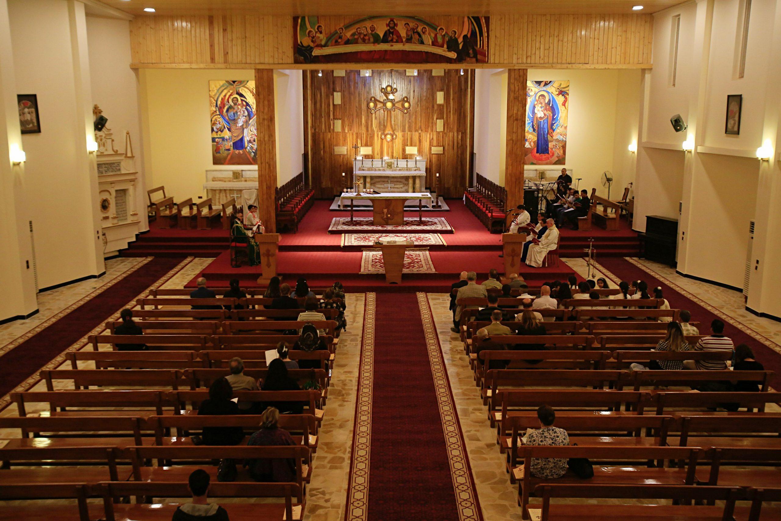 Visite du Pape en Irak: célébration d'une liturgie chaldéenne à la cathédrale Saint-Joseph