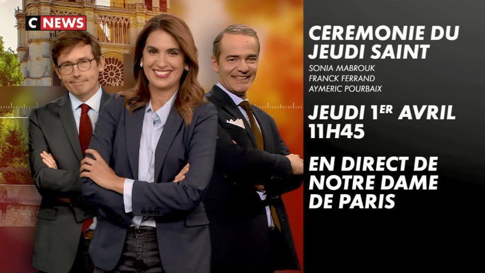 Retransmission des cérémonies du jeudi saint sur CNews