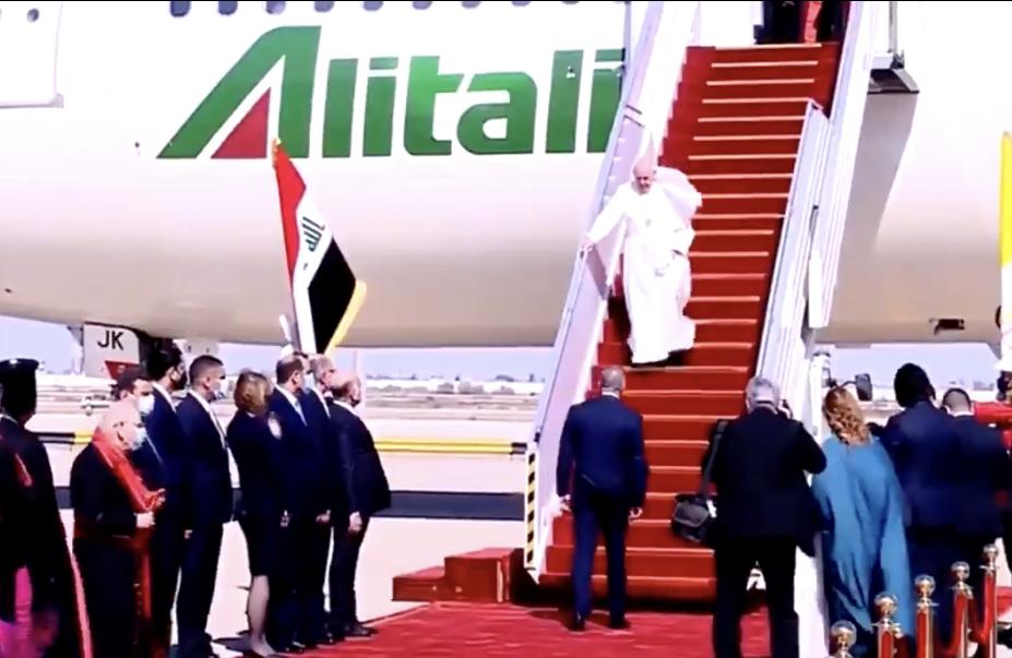 Arrivée du Pape à Bagdad