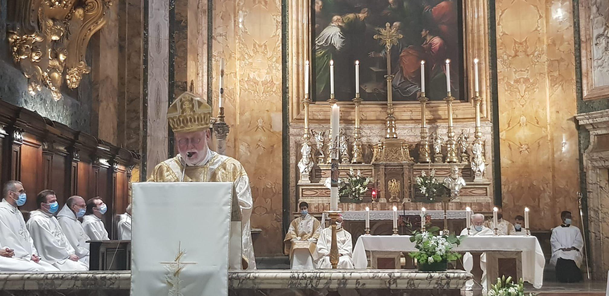 Rome: messe célébrée par Mgr Gallagher à l'église de Saint-Louis-des-Français