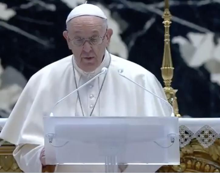 Bénédiction Urbi et Orbi du Pape François