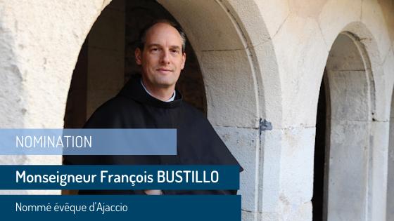 Mgr François Bustillo nommé évêque d'Ajaccio