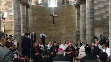 Mossoul: Emmanuel Macron rencontre les chrétiens d'Irak