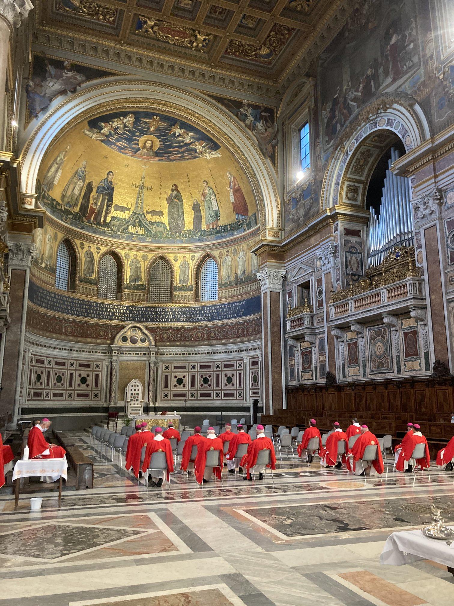Rome: suite de la visite des évêques français