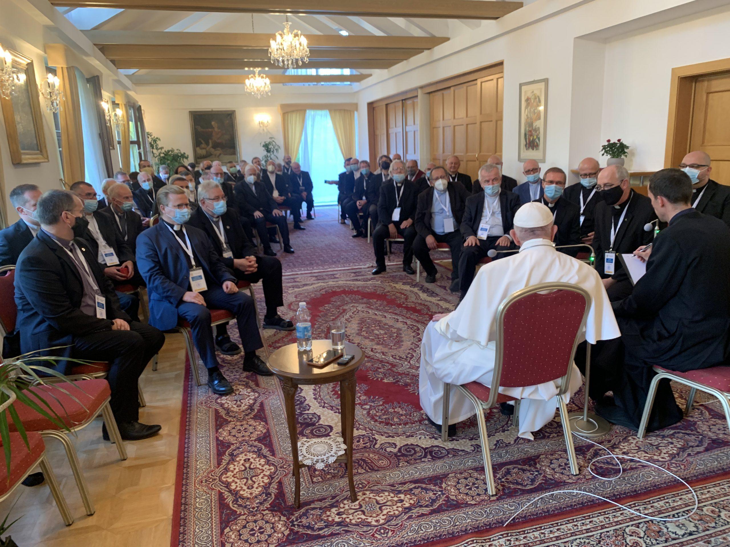 Bratislava: échanges du Pape François avec les jésuites